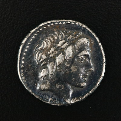 Ancient Roman Republic AR Denarius, Anonymous Issue, ca. 86 B.C.