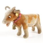 """Steiff Collectible Mohair Stuffed """"Bessie"""" Children's Toy, Mid 20th Century"""