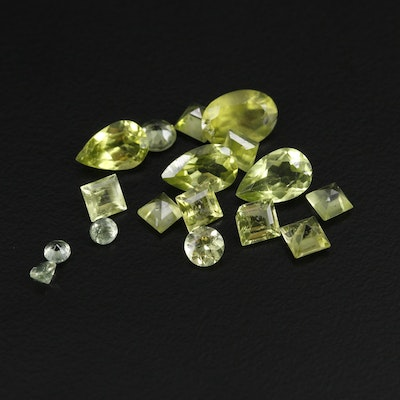 Loose 7.56 CTW Faceted Peridot and Sapphire Gemstones