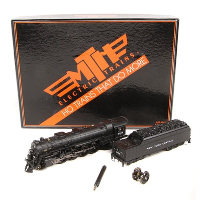 "MTH HO Scale Steam Engine and Coal Car ""New York Central Lines"" with Packaging"