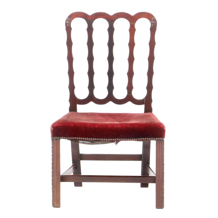 Late George III Mahogany Side Chair