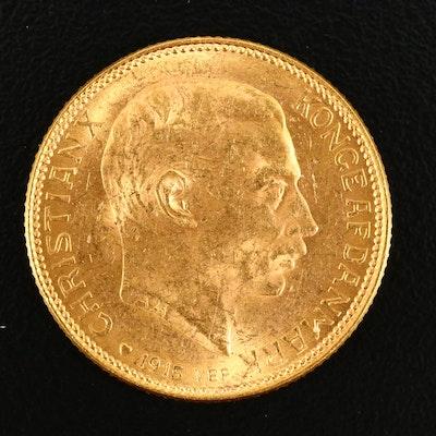 1915 Denmark Twenty Kroner Gold Coin