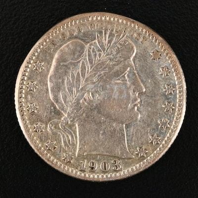 1903-S Silver Barber Quarter