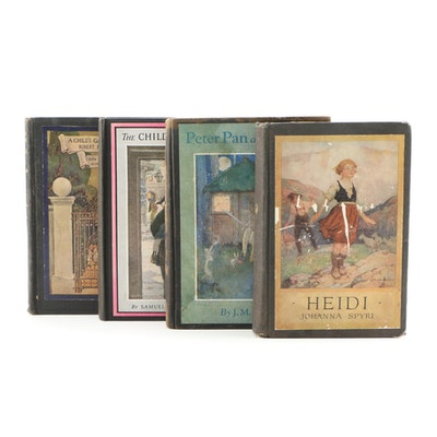 "Illustrated Children's Books featuring ""Heidi"", ""Peter Pan and Wendy"" and Others"