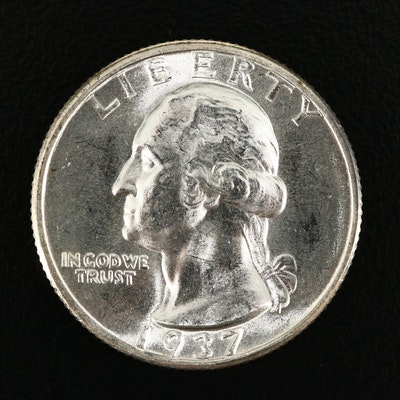 1937-D George Washington Silver Quarter