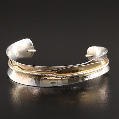 DeRobertis Design Sterling Silver Cuff Bracelet