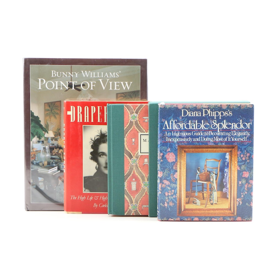 Signed First Printing Books on Iconic Interior Design and Designers