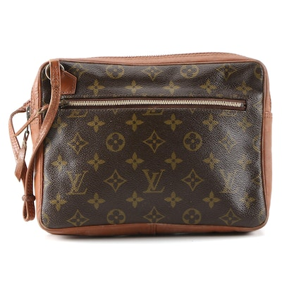 Louis Vuitton Wristlet Zip Pouch in Monogram Canvas and Leather
