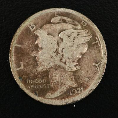Key Date 1921 Silver Mercury Dime