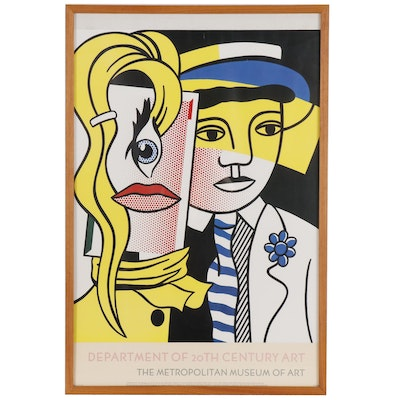 After Roy Lichtenstein Poster from Metropolitan Museum of Art, 1986