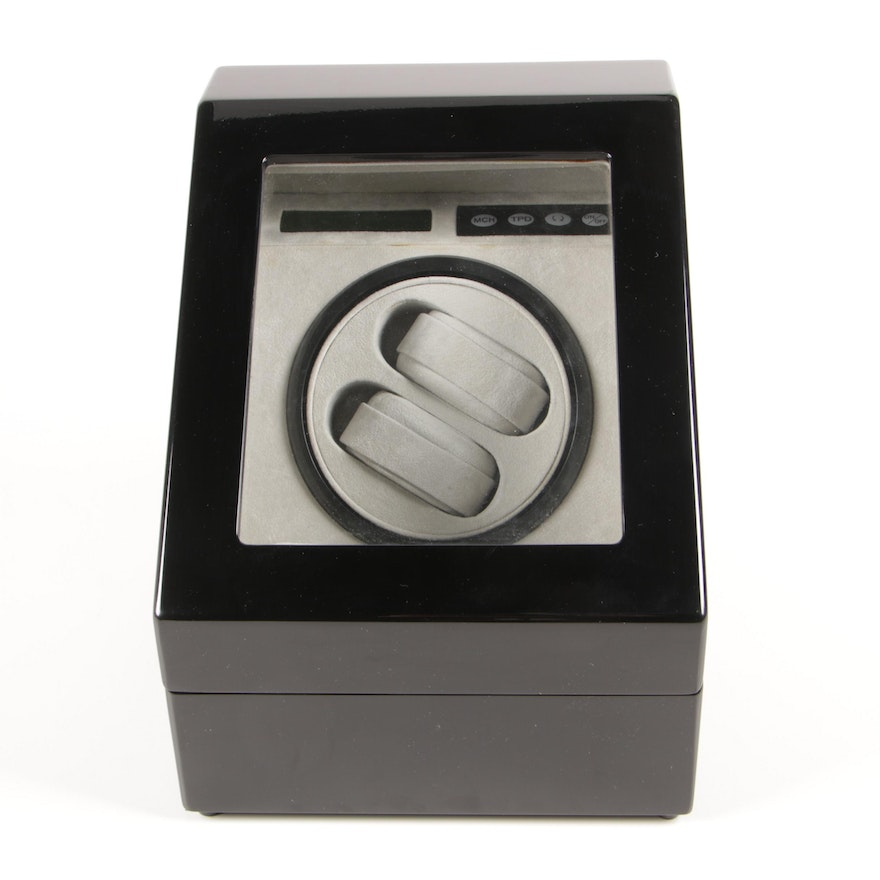Dual Watch Winder with High Gloss Black Finish