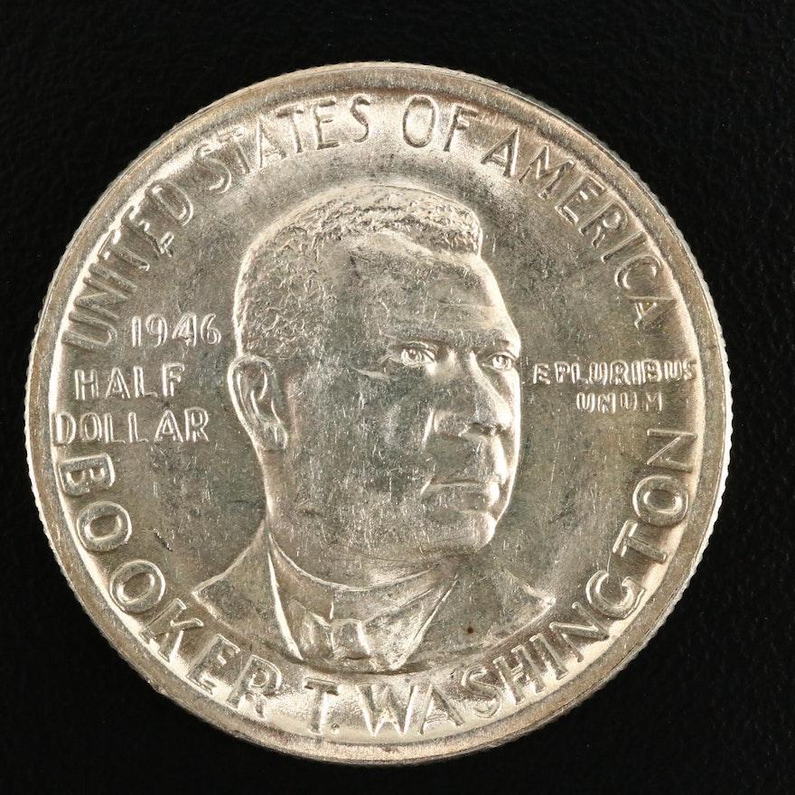 1946 Booker T. Washington Commemorative Silver Half Dollar