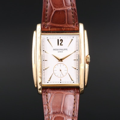 Patek Philippe Gondolo 5124J 18K Gold Stem Wind Wristwatch