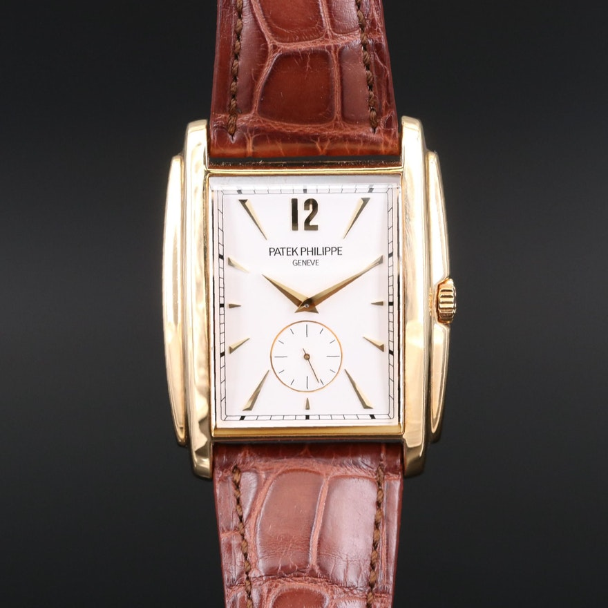 Patek Philippe Gondolo 5124J 18K Gold Stem Wind Wristwatch