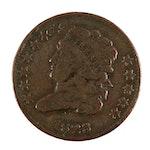 1828 Classic Head Half Cent (Twelve Stars variety)
