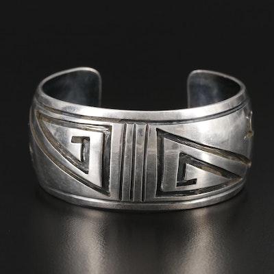 Southwestern Style Sterling Silver Cuff Bracelet