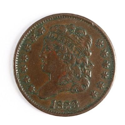 1833 Classic Head Half Cent
