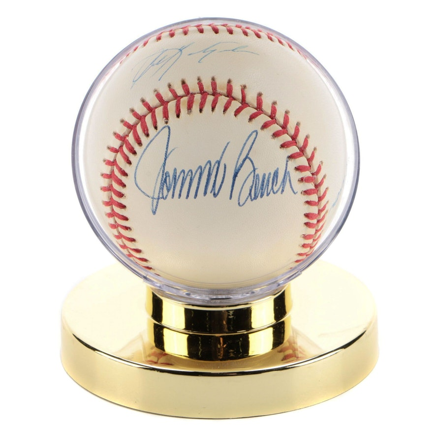 Aaron, Bench and Yastrzemski Signed National League Baseball