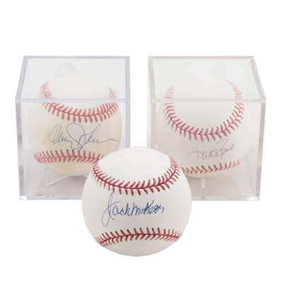 Aaron Boone, Davey Johnson and Jack McKeon Single Signed Baseballs