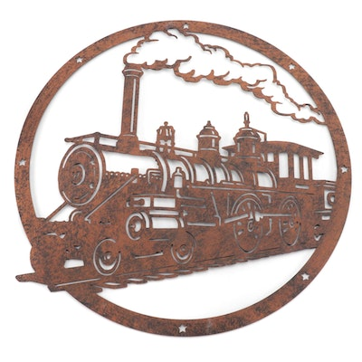 Decorative Rustic Metalworks Train Steam Engine Wall Art