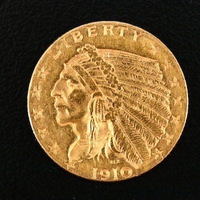 1910 Indian Head $2 1/2 Gold Coin