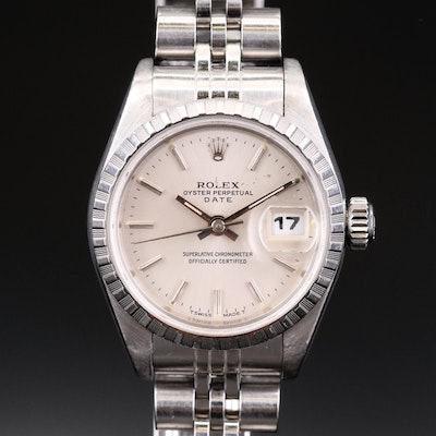 Rolex Date Stainless Steel Automatic Wristwatch, 1997