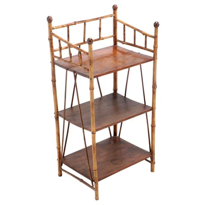 Bamboo Shelving Stand, Late 19th/ Early 20th Century
