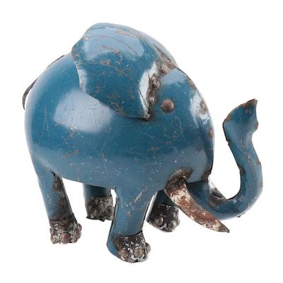 Mexican Folk Art Scrap Metal Elephant Sculpture