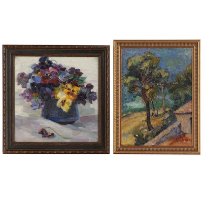 Floral and Landscape Oil Paintings
