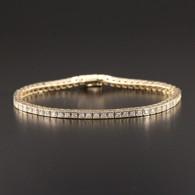 14K Yellow Gold 1.14 CTW Diamond Line Bracelet