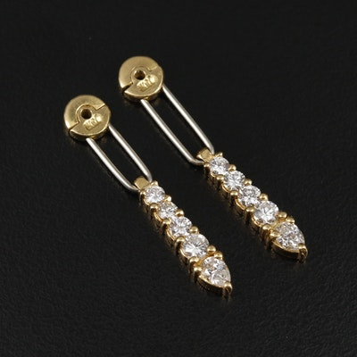 18K Yellow Gold Diamond Adjustable Earring Enhancers