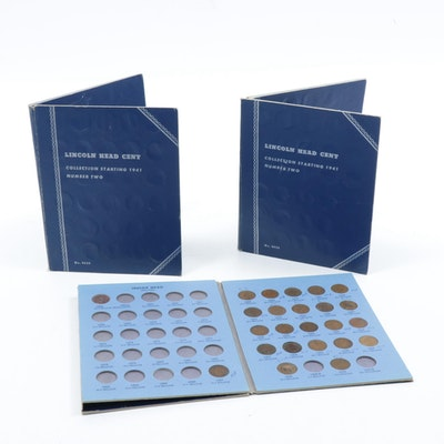 Vintage Lincoln Head Cent Collection and Indian Head Cent in Whitman Folder