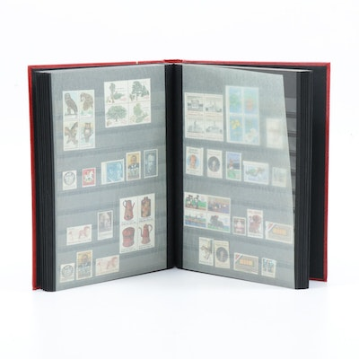 United States Stamp Collection in Stockbook Pages