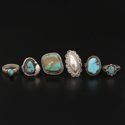 Sterling Rings Including Turquoise and Mexican Sterling Silver