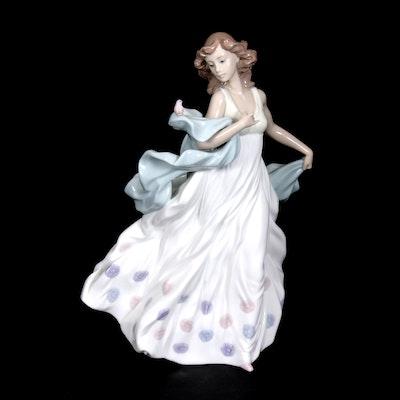 "Lladró ""Summer Serenade"" Porcelain Figurine Designed by Regino Torrijos"