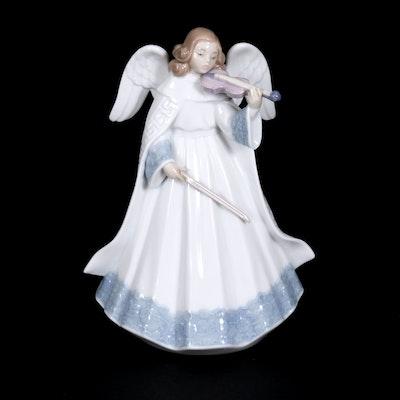 "Lladró ""Angelic Violinist"" Porcelain Figurine Designed by Francisco Catalá"