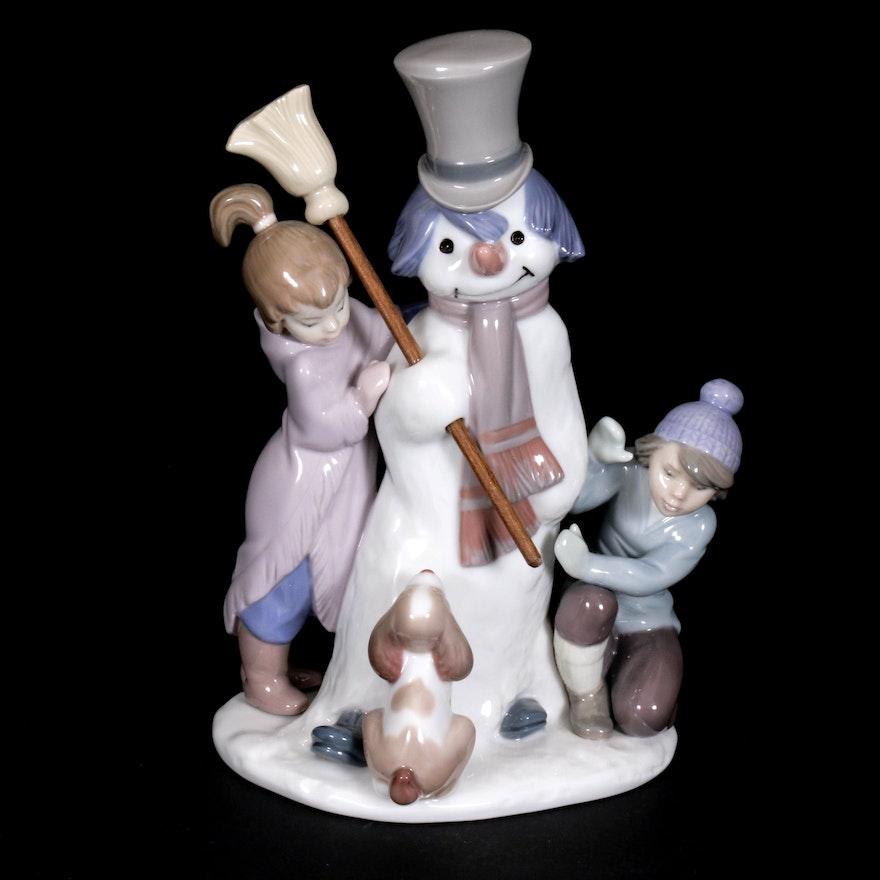 "Lladró ""The Snowman"" Porcelain Figurine Designed by Francisco Catalá"
