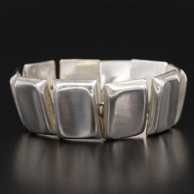 Taxco Sterling Silver Rectangular Link Bracelet