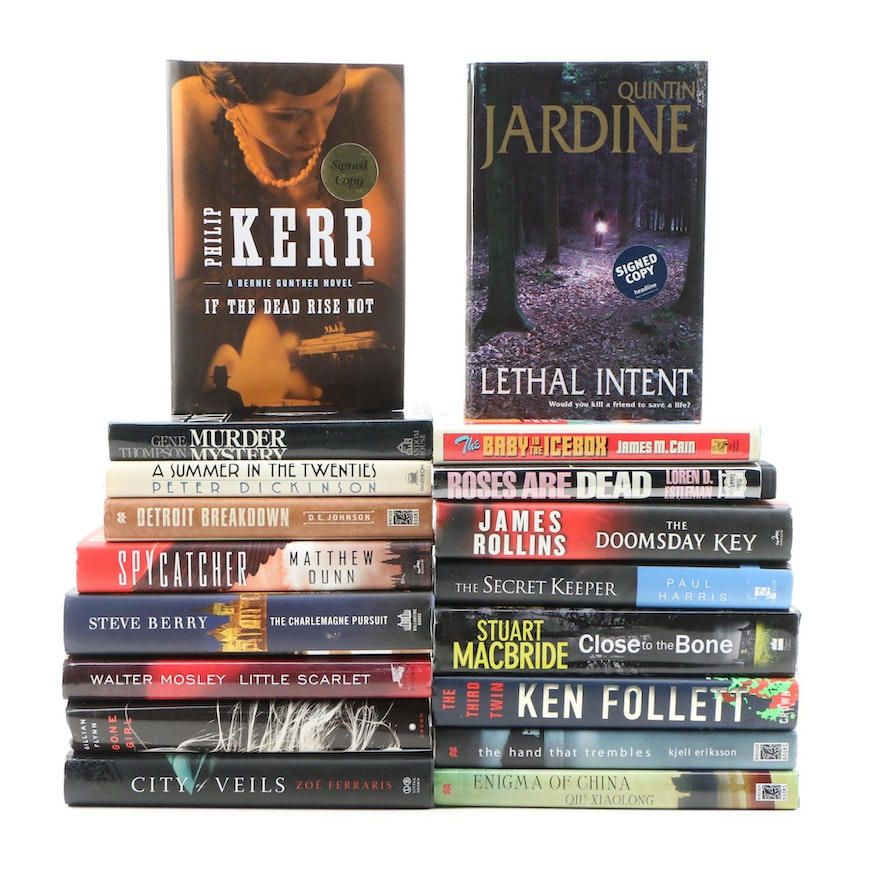 """Signed """"If the Dead Rise Not"""", """"Lethal Intent"""" and Other First Edition Books"""