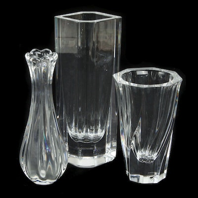 """Orrefors """"Residence"""" and Other Glass Vases"""