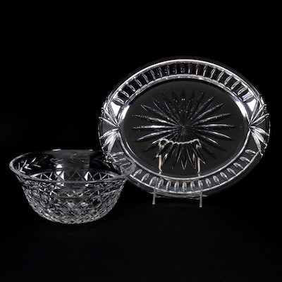 "Waterford Crystal ""Glandore"" Bowl and Platter"