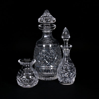 "Waterford Crystal ""Glandore"" Decanter with Other Vase and Decanter"