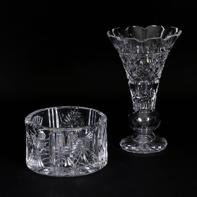 "Waterford Crystal Vase and ""Millennium Series"" Bowl"