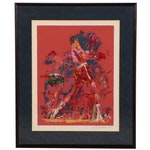 """LeRoy Neiman Serigraph """"The Red Boxer"""", 1973"""