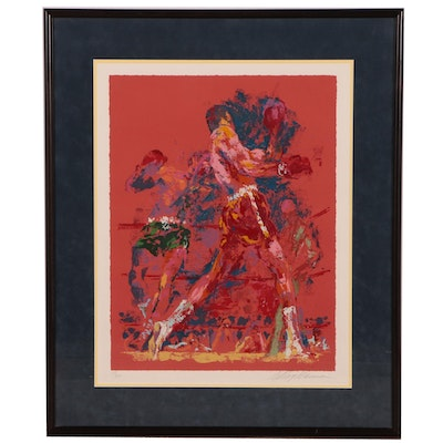 "LeRoy Neiman Serigraph ""The Red Boxer"", 1973"