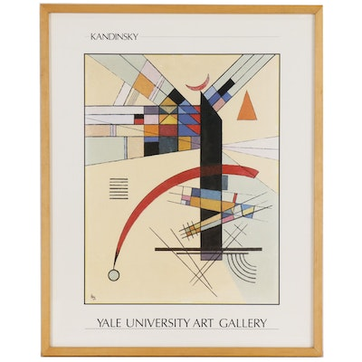 After Wasslily Kandinsky Exhibition Poster from Yale University Art Gallery