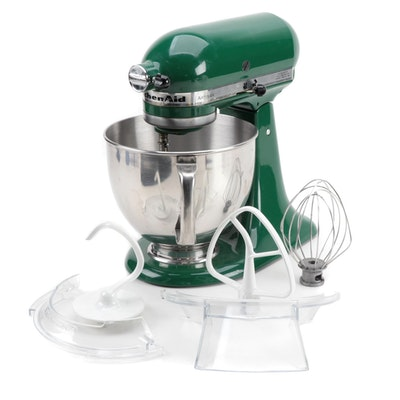 KitchenAid Artisan 5 qt. Stand Mixer in Empire Green with Attachments