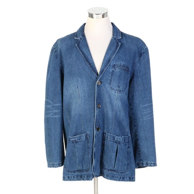 Men's J. Peterman Indigo Denim Jacket with Original Tag