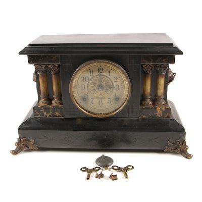 Seth Thomas Adimintine Clock, 8 Day Time and Strike Movement, Late 19th Century