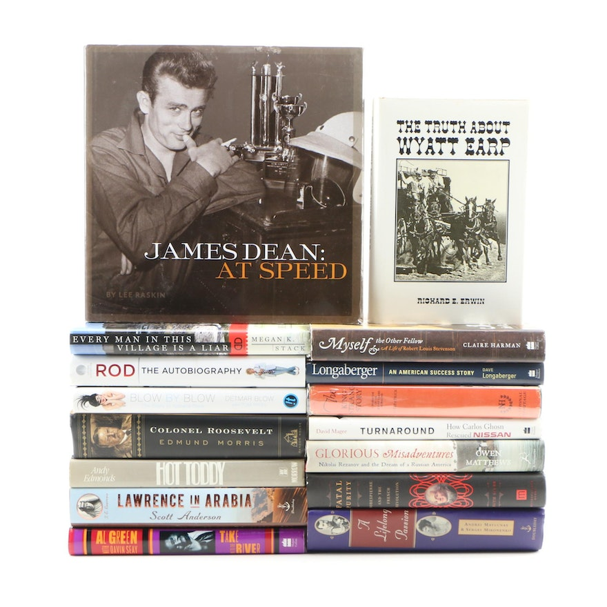 "Signed First Edition ""James Dean"", ""The Truth About Wyatt Earp"" and Other Books"